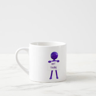 Não hoje caneca do café