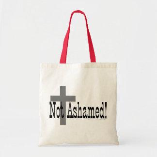 Nao humilhado! 1:16 dos romanos (com cruz) bolsas de lona