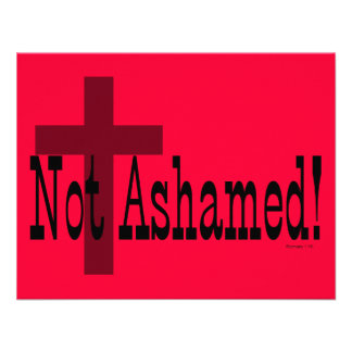 Nao humilhado! 1:16 dos romanos (com cruz) convites personalizado