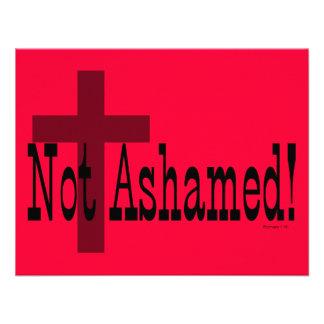 Nao humilhado 1 16 dos romanos com cruz convites personalizado
