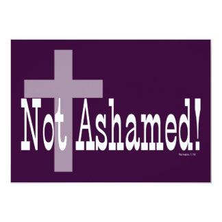Nao humilhado! 1:16 dos romanos (com cruz) convite 12.7 x 17.78cm