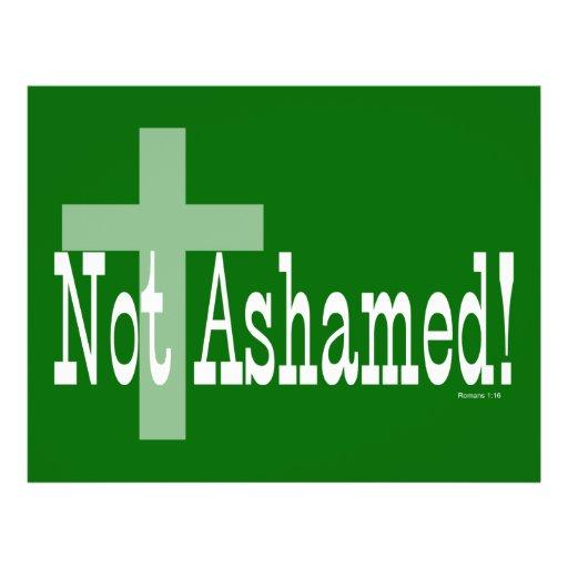 Nao humilhado! 1:16 dos romanos (com cruz) modelo de panfleto