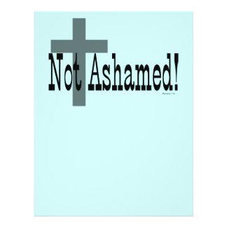 Nao humilhado! 1:16 dos romanos (com cruz) panfleto personalizado