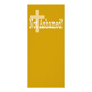 Nao humilhado! 1:16 dos romanos (com cruz) 10.16 x 22.86cm panfleto