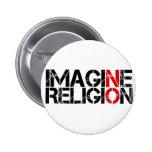 Não imagine nenhuma religião botons