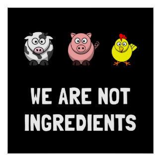 Posters para vegetarianos na Zazzle