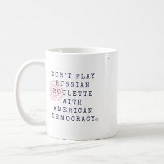 Não jogue a caneca de café da roleta de russo