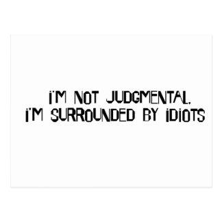 Nao judgmental cartão postal
