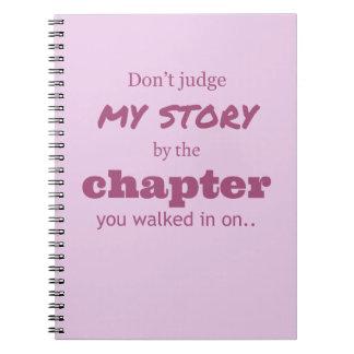 """""""Não julgue…"""" Caderno"""