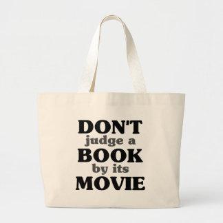 Não julgue um livro por seu filme bolsa para compra