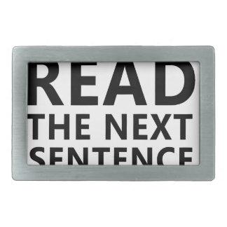 Não leia a frase seguinte você pouco Reble
