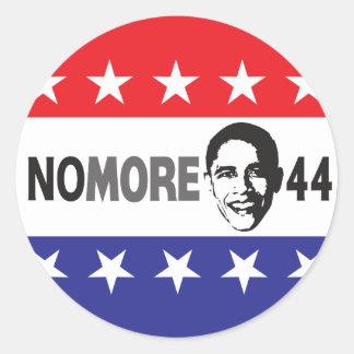 NÃO MAIS 44 - Anti Obama Adesivo Em Formato Redondo