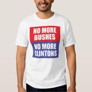 Não mais arbustos, não mais Clintons T-shirts
