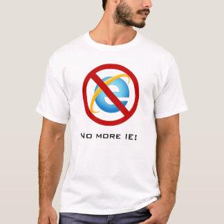 Não mais Internet Explorer (texto customizável) Camiseta