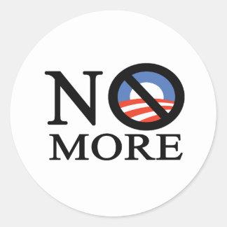 Não mais Obama Adesivo Em Formato Redondo