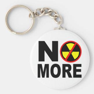 Não mais slogan antinuclear chaveiro