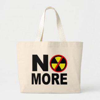 Não mais slogan antinuclear sacola tote jumbo