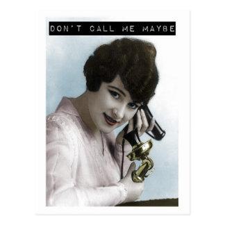 Não me chame talvez cartão