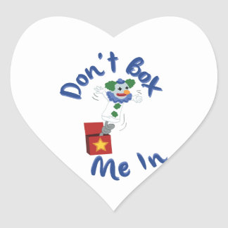 Não me encaixote dentro adesivo coração