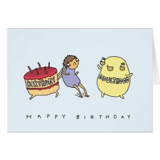 Não me faça o adulto | cartão de aniversário