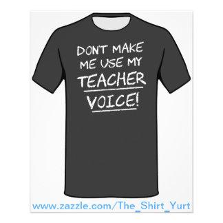 Não me faça usar minha voz do professor modelo de panfletos