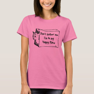 Não me incomode gato em uma camisa do saco