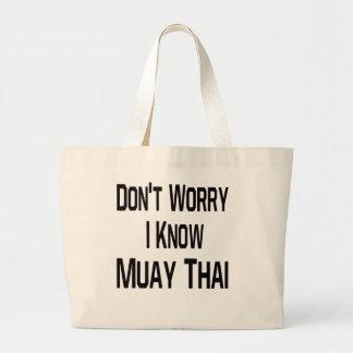 Não me preocupe sabem tailandês de Muay Bolsas Para Compras