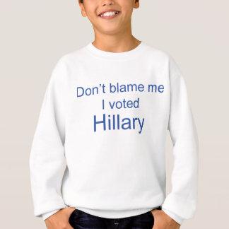 Não me responsabilize que eu votei a camisola de agasalho