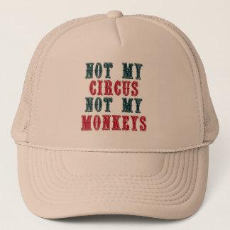 Não meu circo, não meu boné de beisebol dos