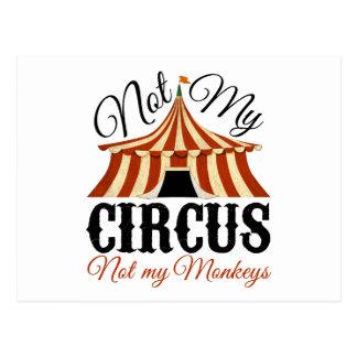 Não meu circo - não meus macacos cartão postal