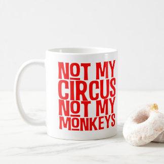 Não meu circo não minha caneca dos macacos