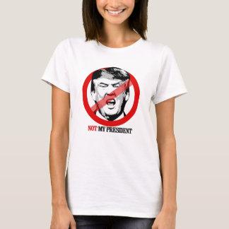 Não meu presidente - Anti-Trunfo - pequeno Camiseta