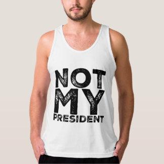 Não meu presidente Cru Estêncil Preto Protesto Regata