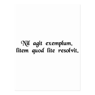 Não muito valor é um exemplo que resolva um cartao postal