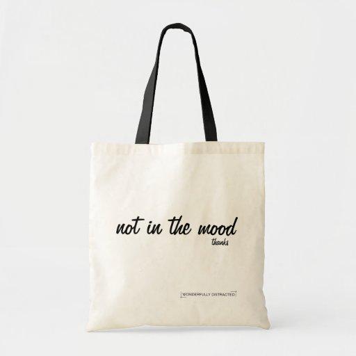 Não na sacola do slogan do humor bolsa de lona