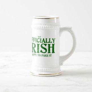 (não) oficialmente irlandês caneca de cerveja