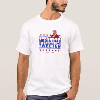 Não os meios inclinam o Twitter Camiseta
