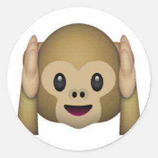 Não ouça nenhum macaco mau - Emoji Adesivo