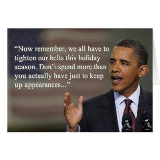 """""""Não overspend"""" o cartão de Natal de Obama"""