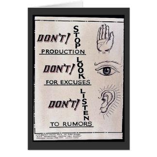 Não pare a produção não param para desculpas D Cartoes