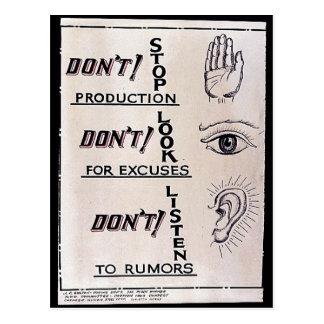 Não pare a produção não param para desculpas D Cartao Postal