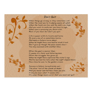 Não pare o poema - cartão