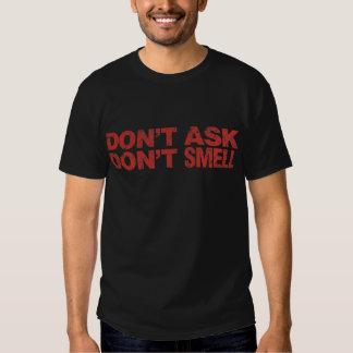 Não peça não cheiram: T escuro básico Camiseta