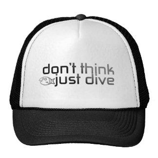 Não pense apenas o boné do mergulho