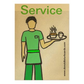 Não perturbe cartões. COM (garçom). Cartão De Visita Grande
