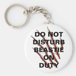 Não perturbe o botão de Beastie Chaveiro