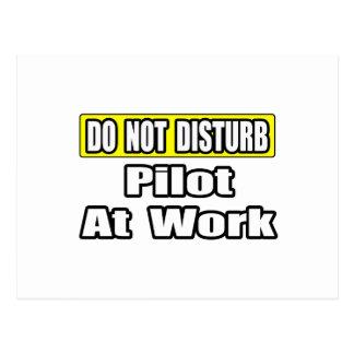 Não perturbe… o piloto no trabalho cartão postal