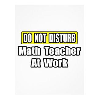 Não perturbe… o professor de matemática no trabalh panfleto