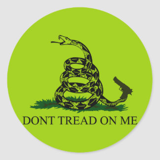 Não pise em mim! Cancele o cobra Adesivo Redondo