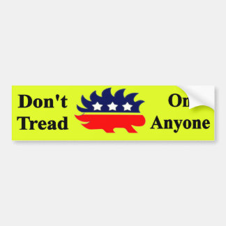 Não pise em qualquer um com porco- do libertário adesivo para carro